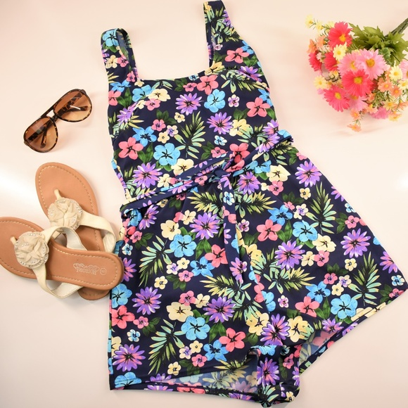 7b1f90b81dc6d Blair Other - Blair Floral One Piece Shorts Romper Swimsuit